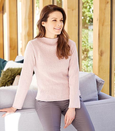 Sirdar 10085 Ladies High Neck Sweater Double Knitting Pattern
