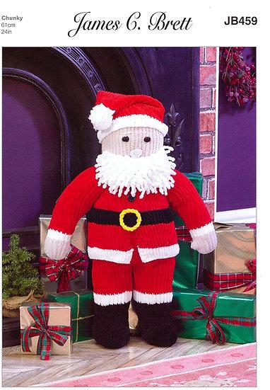 James C. Brett JB459 Santa Claus Chunky Pattern