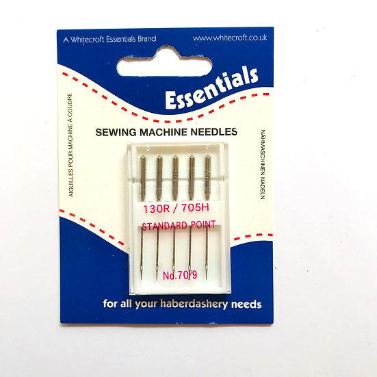 Essentials Standard Sewing Machine Needles 130R/705H Size 70/9