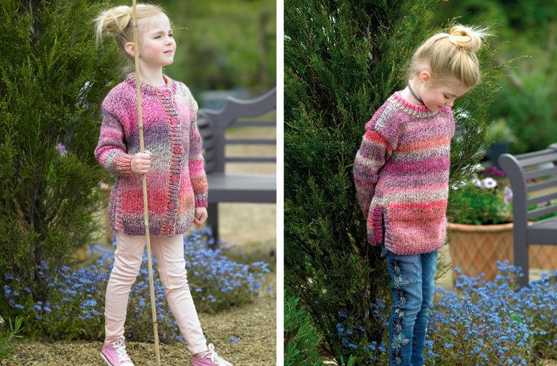 James C. Brett JB456 Childrens Chunky Cardigan and Sweater Knitting Pattern
