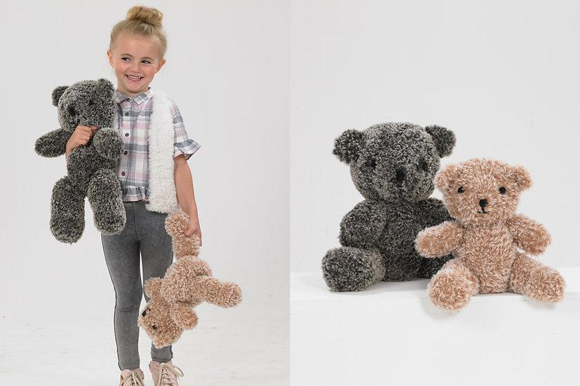 James C. Brett JB541 Chinchilla Teddy Bear Knitting Pattern