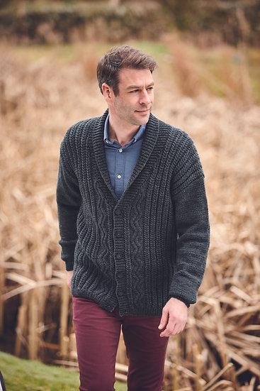 Hayfield 10079 Shawl Collar Cardigan Aran Knitting Pattern