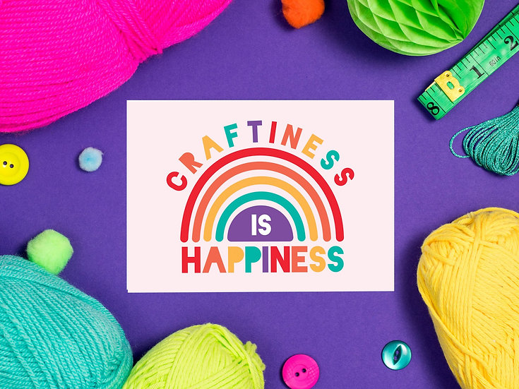 Craftiness is Happiness Postcard