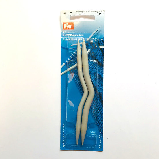 Prym Cranked Cable Needles for Knitting Size 6mm - 8mm