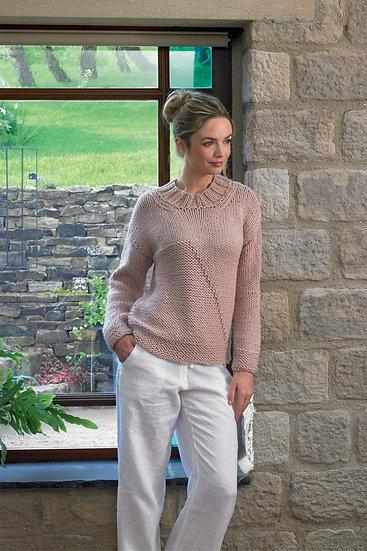 James C. Brett JB632 Super Chunky Modern Sweater Knitting Pattern
