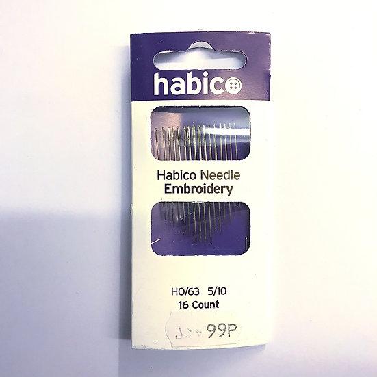 Habico Embroidery Needles HO/63 5/10