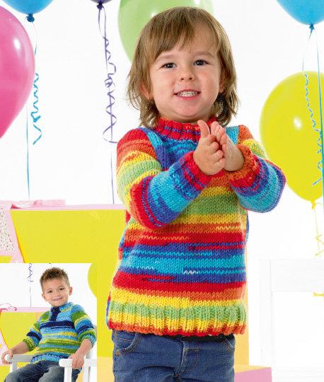 James C. Brett JB341 Children's Chunky Sweaters Knitting Pattern