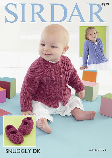 Sirdar 4879 Babies & Children Blossom Cardigan and Booties Double Knit Pattern