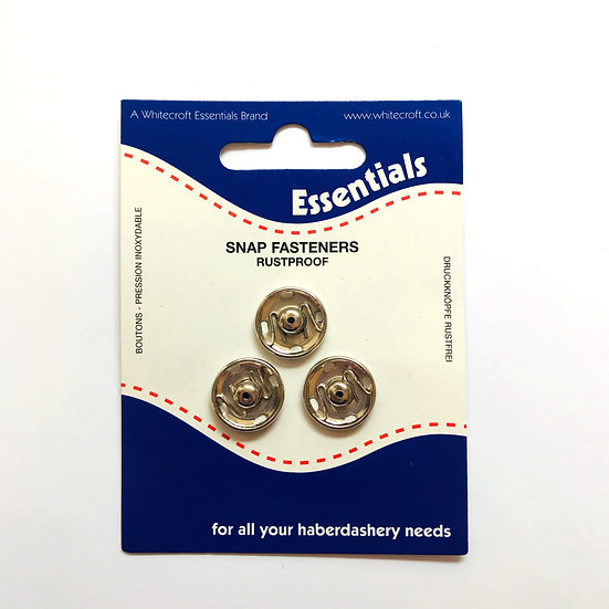 Essentials Sew On Snap Fasteners 15mm Size 7