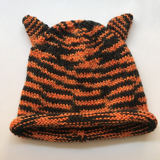 6 - 12 Month Halloween / Tiger Animal Ear Hat