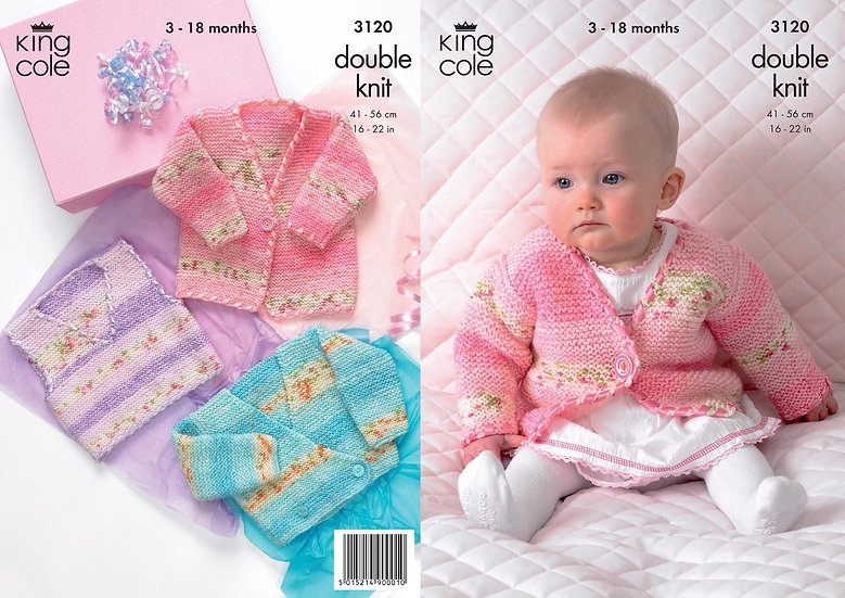 King Cole 3120 Babies Jacket and Tank Top Double Knit Pattern