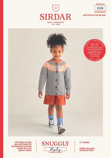Sirdar 2528 Childrens Yoke Cardigan Double Knitting Pattern