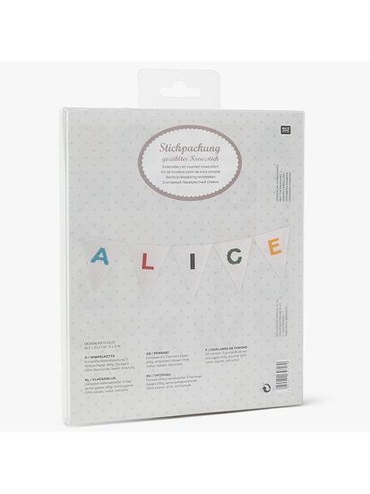 Rico Designs Alphabet Pennant Bunting Cross Stitch Kit