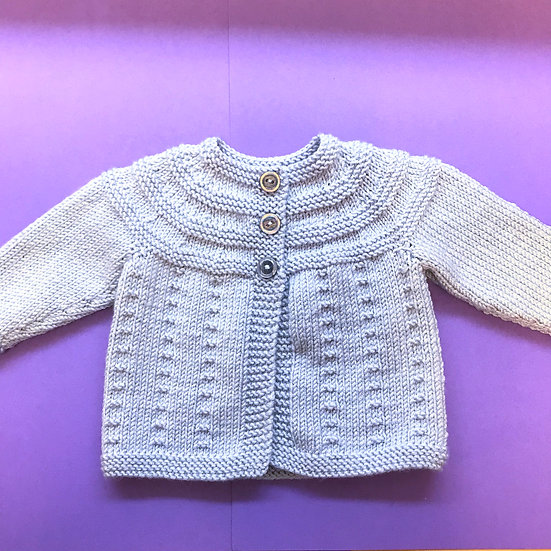 0 - 5 months Silver Grey Baby Matinee Coat