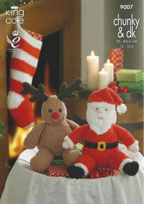 King Cole 9007 Santa, Rudolph and Christmas Stocking Pattern