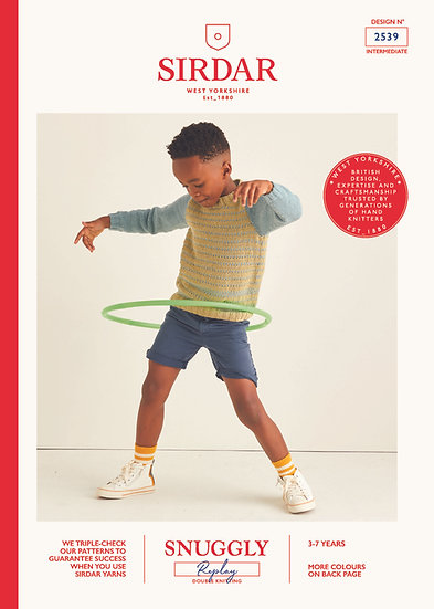 Sirdar 2539 Childrens Striped Sweater Double Knitting Pattern