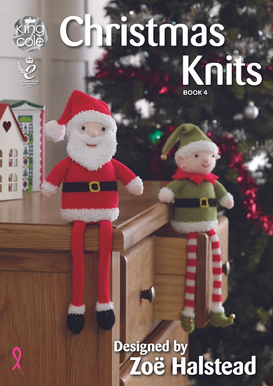 King Cole Christmas Knits Book 4 Designed by Zoë Halstead