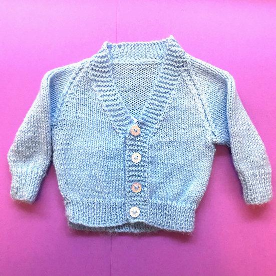 Newborn Baby Blue V-Neck Cardigan