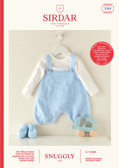 Sirdar 5364 Babies Romper and Booties Pattern 3 Ply