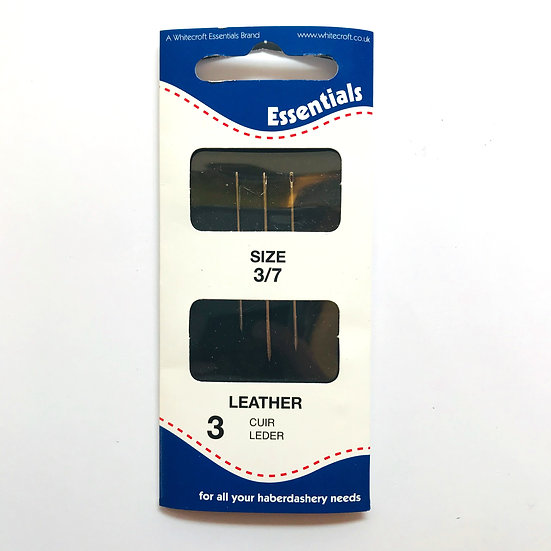 Essentials Leather Hand Sewing Needles Size 3/7