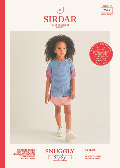 Sirdar 2549 Childrens Tunic Double Knitting Pattern