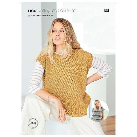 Rico 1014 Loose Casual Top Knitting Pattern