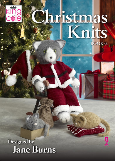 King Cole Christmas Knits Book 6 Designed by Jane Burns