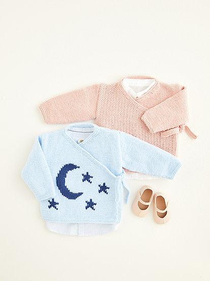 Hayfield 5424 Babies Starry Wrap Cardigan Double Knitting Pattern