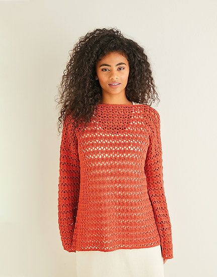 Sirdar 10244 Ladies Crochet Boat Neck Tunic 4 Ply Pattern