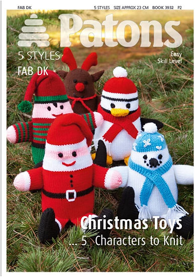 Patons 3932 Christmas Toys Double Knit Patterns