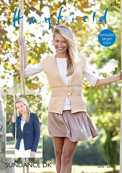 Hayfield 8139 Waistcoat and Jacket Double Knitting Pattern