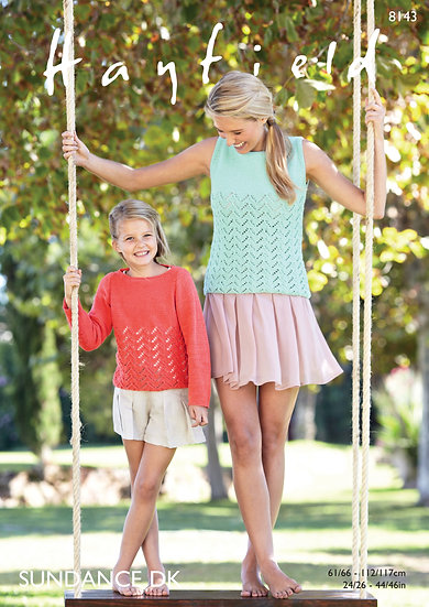 Hayfield 8143 Summer Top and Sweater Double Knit Pattern