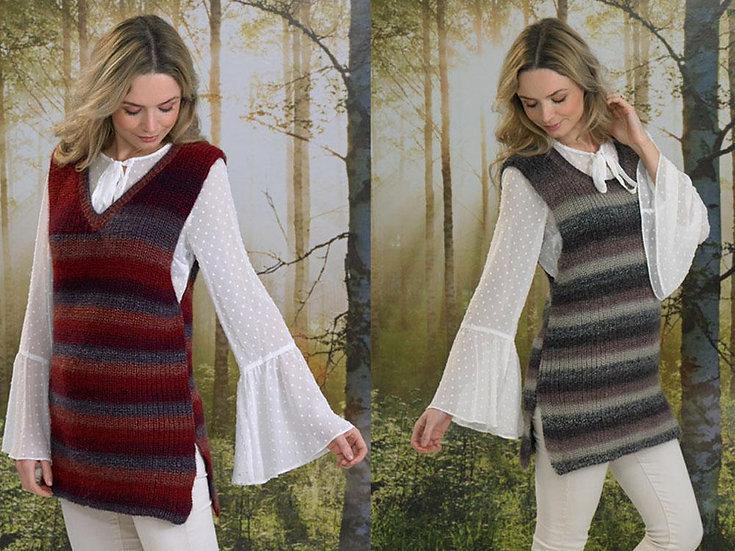James C. Brett JB493 Ladies Tunic Tank Top Double Knitting Pattern