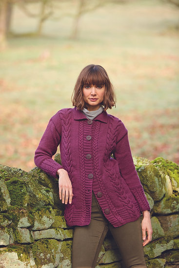 Hayfield 10081 Cable Jacket Aran Knitting Pattern