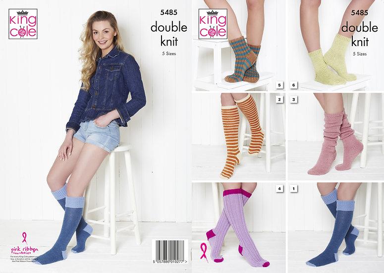 King Cole 5485 Socks Double Kit Pattern