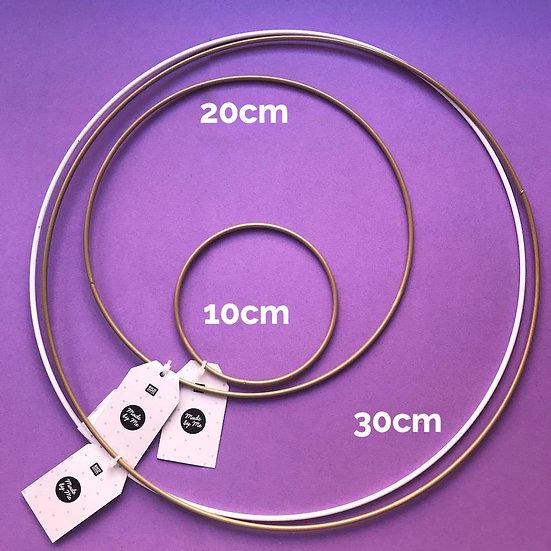 Macrame Rings 10cm - 30cm Metal White or Gold
