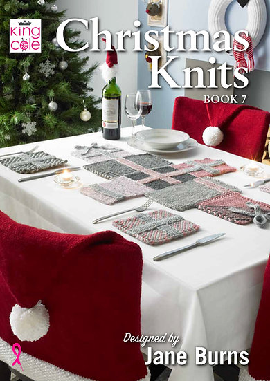 King Cole Christmas Knits Book 7 Designed by Jane Burns