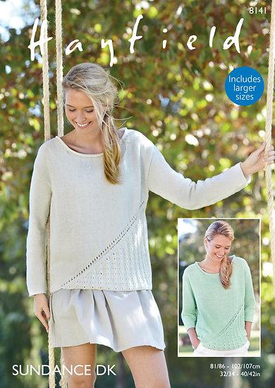 Hayfield 8141 Summer Sweater Double Knitting Pattern