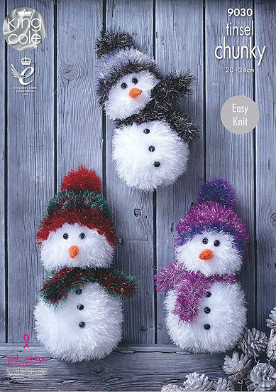King Cole 9030 Snowman in Tinsel Chunky Pattern