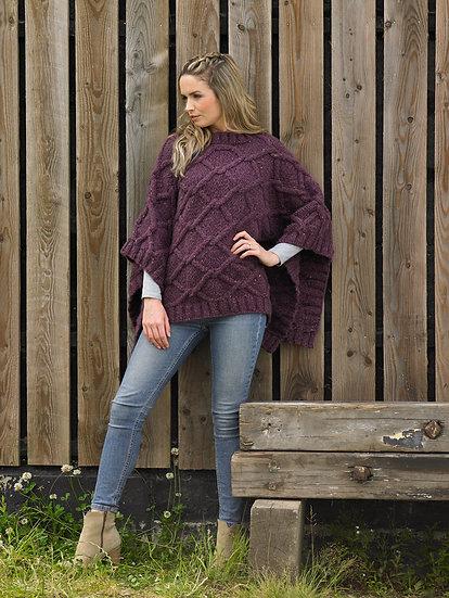 James C. Brett JB638 Poncho, Wrap and Slouchy Hat Chunky Knitting Pattern
