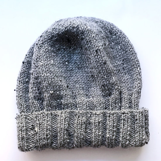 10 - 12 years Grey Tweed Beanie Hat
