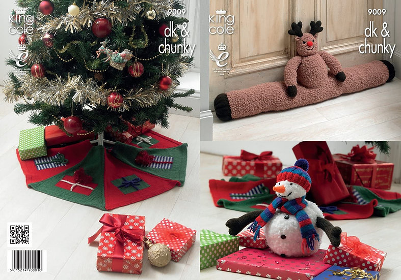King Cole 9009 Rudolph Draught Excluder, Christmas Tree Skirt and Snowman Toy