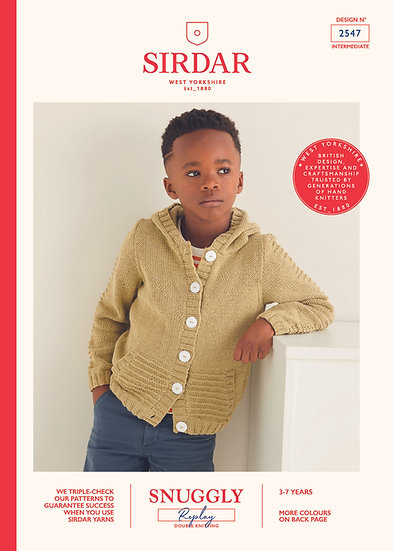 Sirdar 2547 Childrens Hooded Jacket Double Knitting Pattern