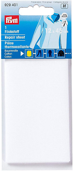 Prym Cotton Iron On Repair Sheet 12cm x 45cm