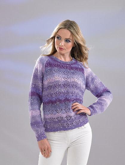 James C. Brett JB512 Ladies Lace Sweater Double Knitting Pattern