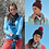 Thumbnail: Hayfield 8019 Hat, Headband, Scarf and Mitterns Double Knit Pattern