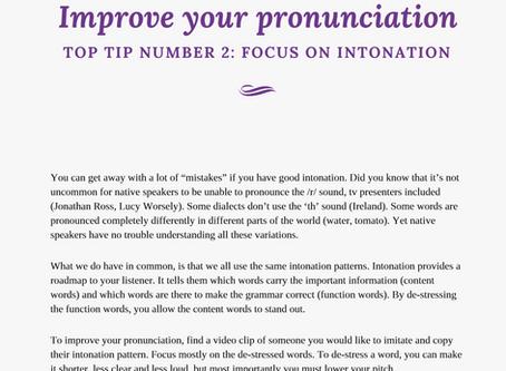 Focus on intonation for better pronunciation