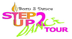 step up logo lime green _ pink newist .j