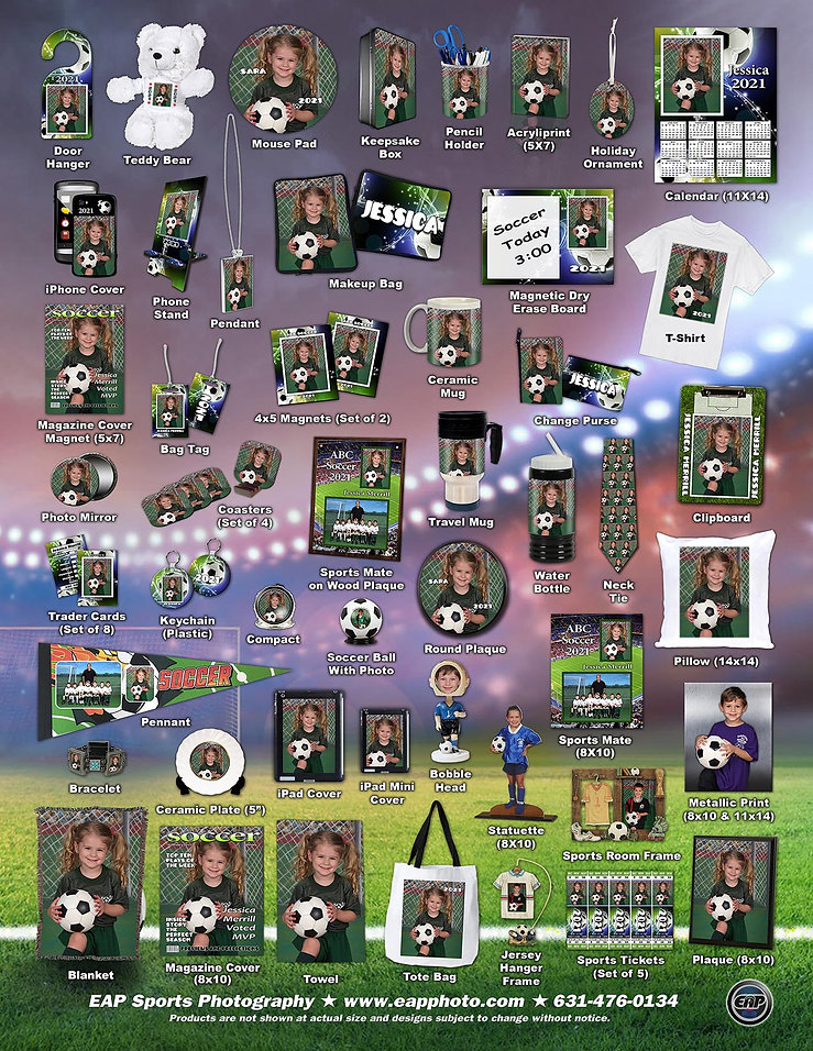 8X11 Product Poster Soccer 2021 FLAT for