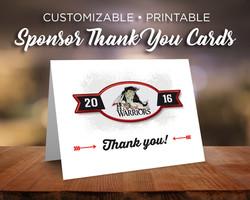 Sponsor Thank You Card